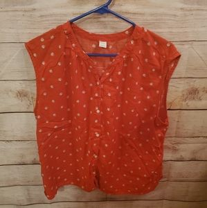 Old Navy Large Red with Small Flowers